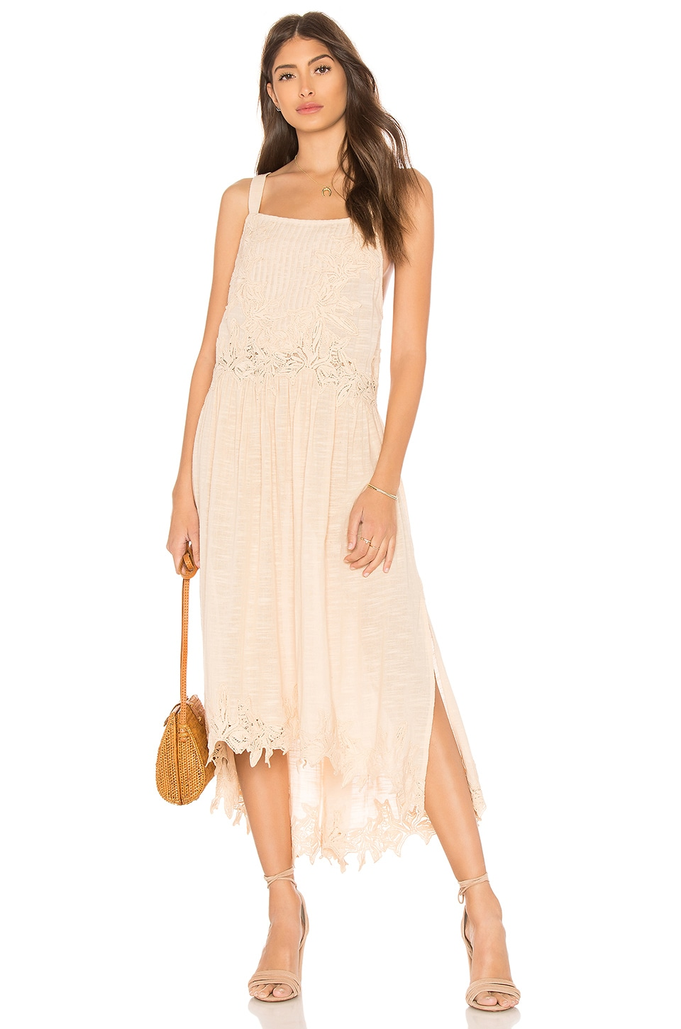 Free People In Your Arms Dress in Rose