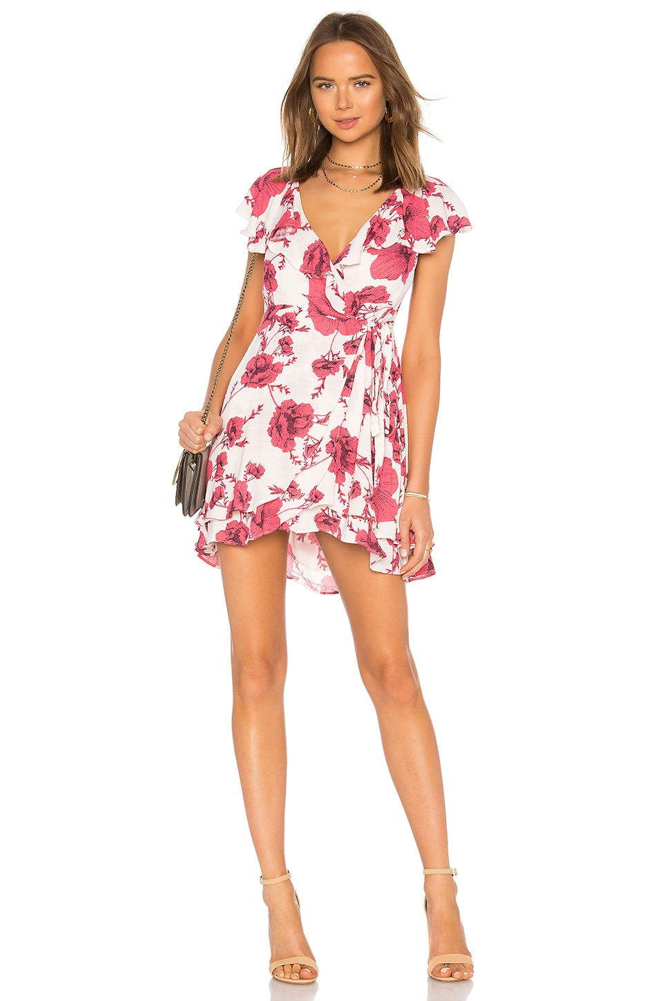Free People French Quarter Printed Mini Dress in Ivory