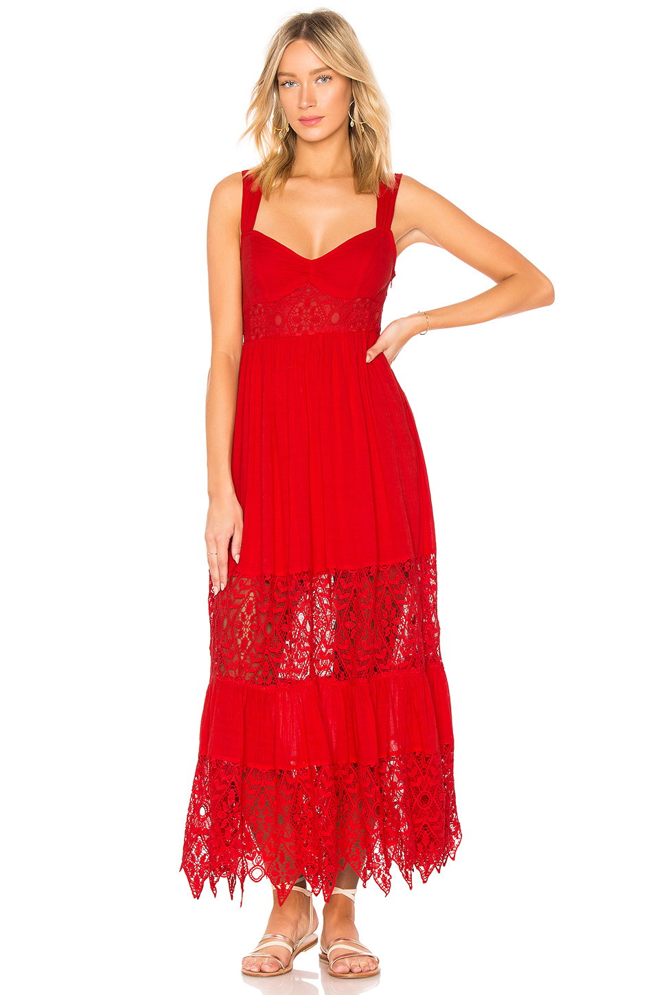 Free People Caught Your Eye Dress in Red