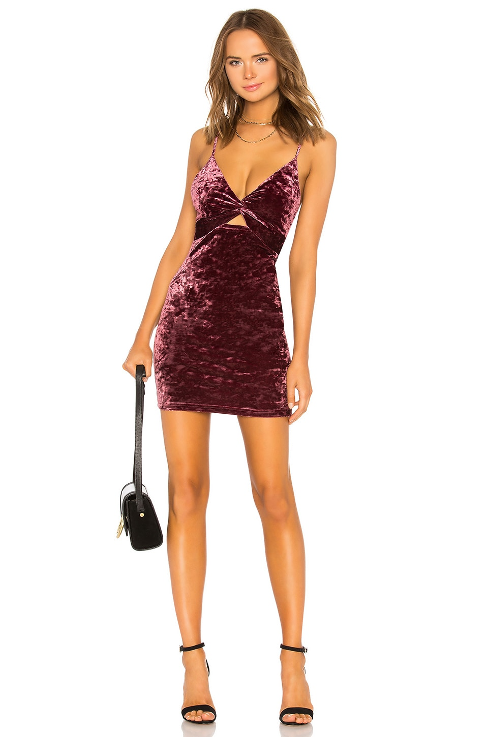 Free People Come Together Bodycon Dress in Raspberry
