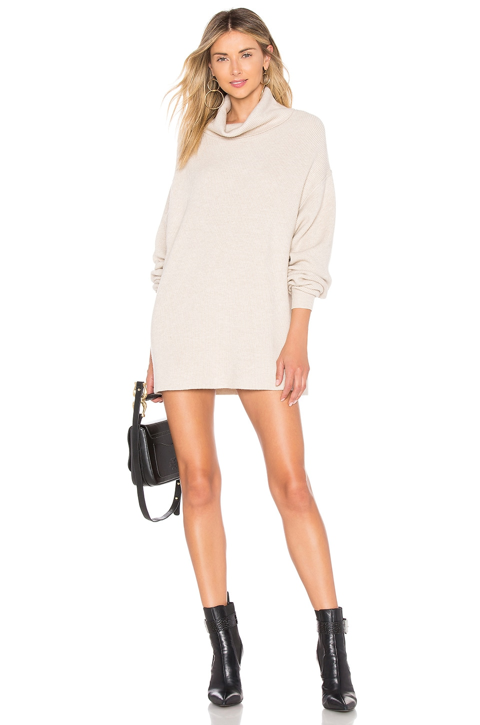 Free People Softly Structured Tunic in Heather Oatmeal