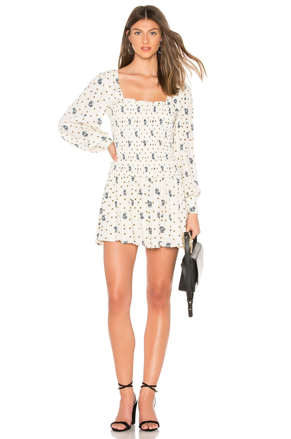 Free People Two Faces Mini Dress in Ivory