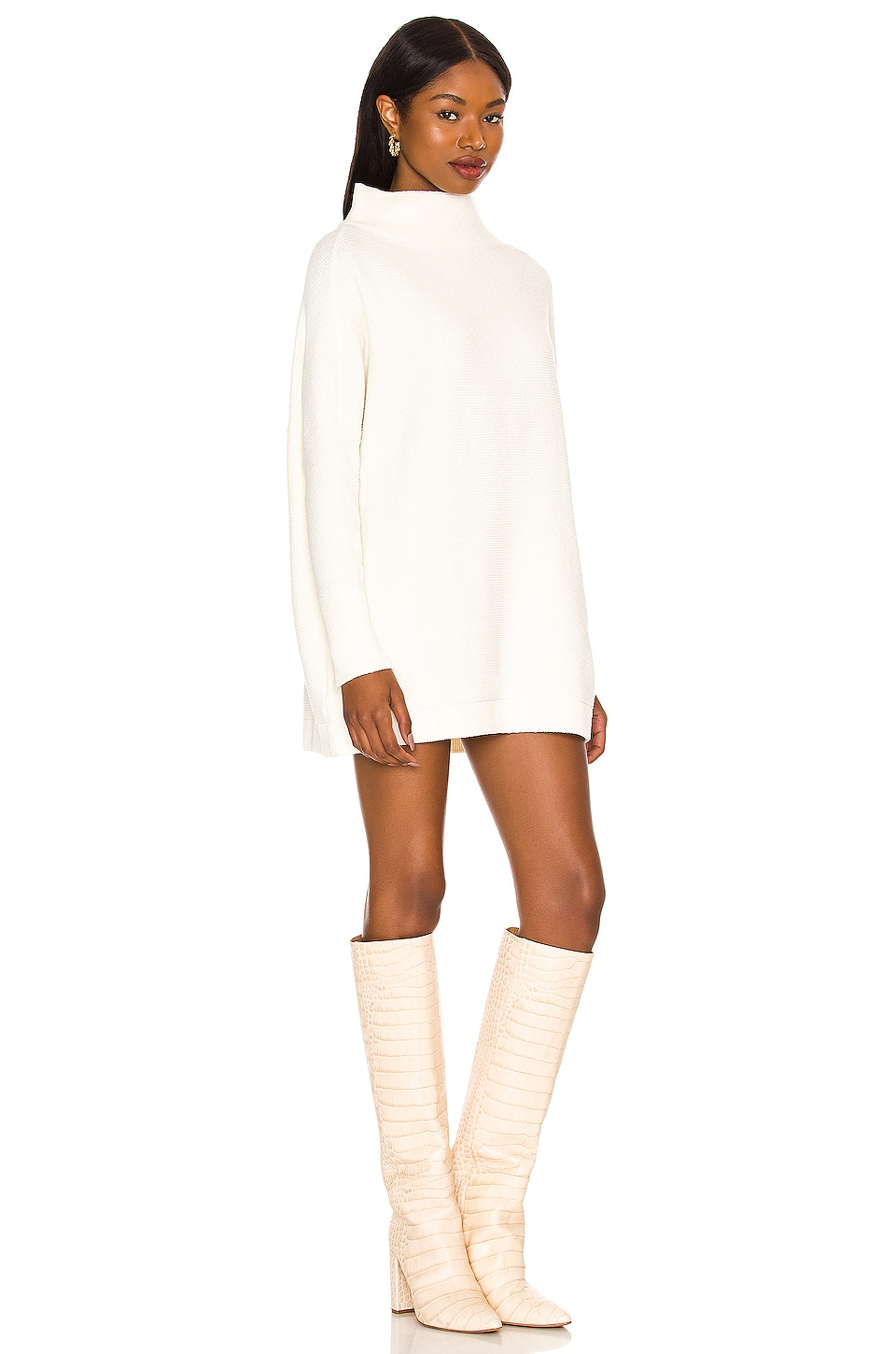 Ottoman Slouchy Tunic Sweater Dress, view 2, click to view large image.