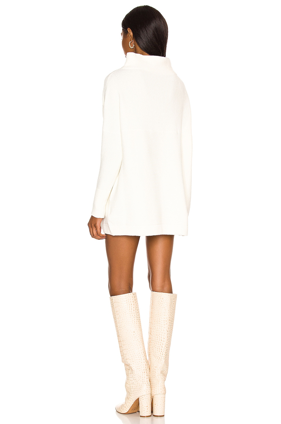 Ottoman Slouchy Tunic Sweater Dress, view 3, click to view large image.