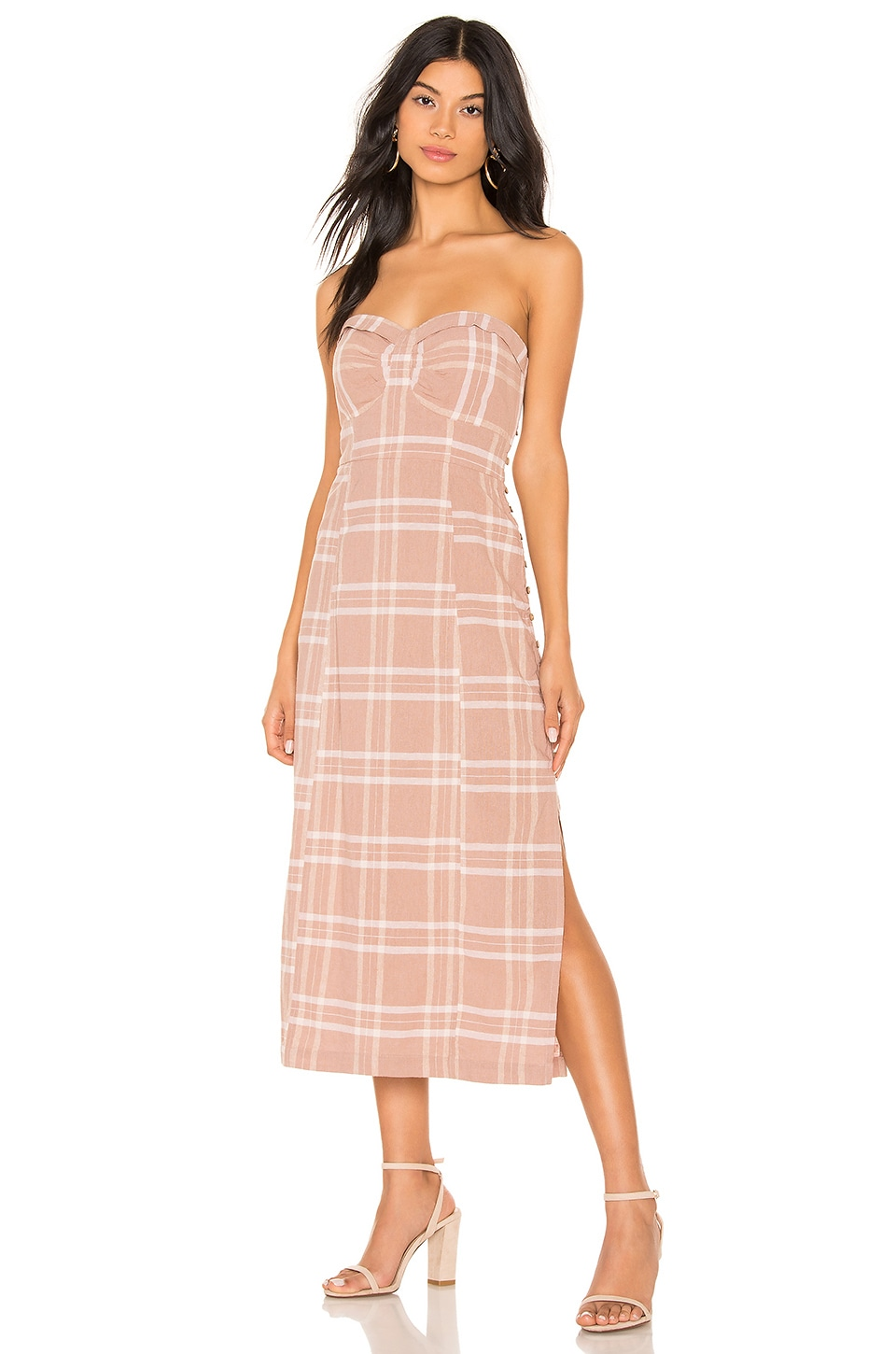 Free People Life Like This Plaid Dress in Natural