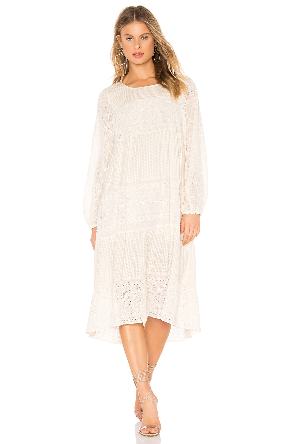 Free People Gemma Midi Dress in Cream