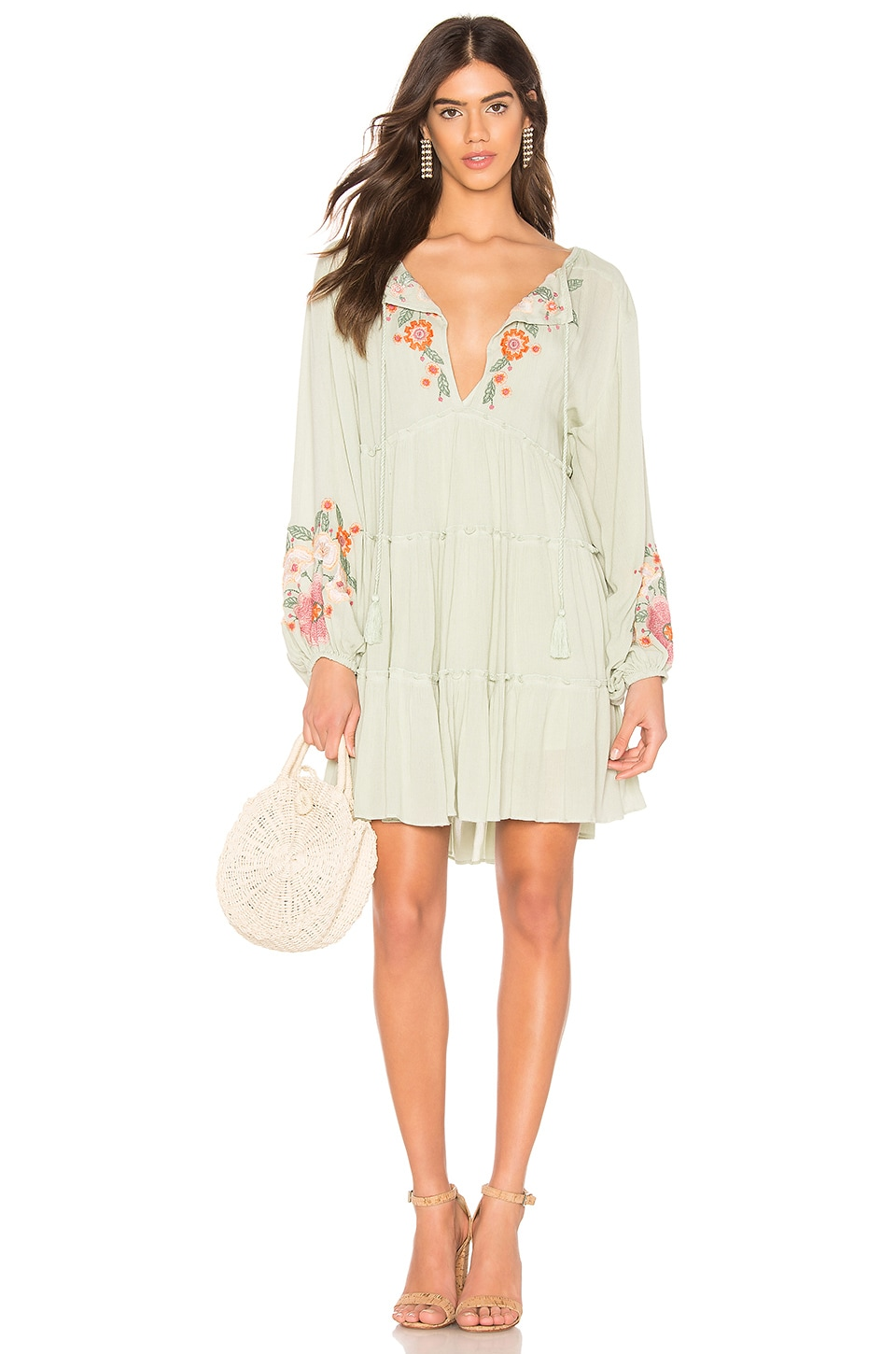Free People Spell On You Mini Dress in Green