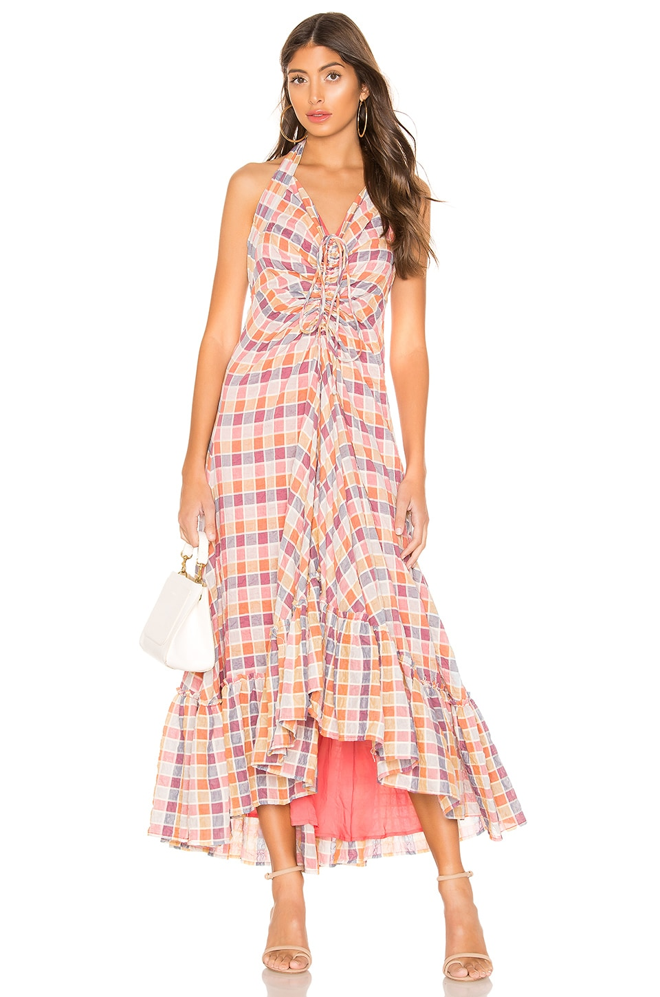 Free People Rainbow Dreams Maxi Dress in Pink Combo