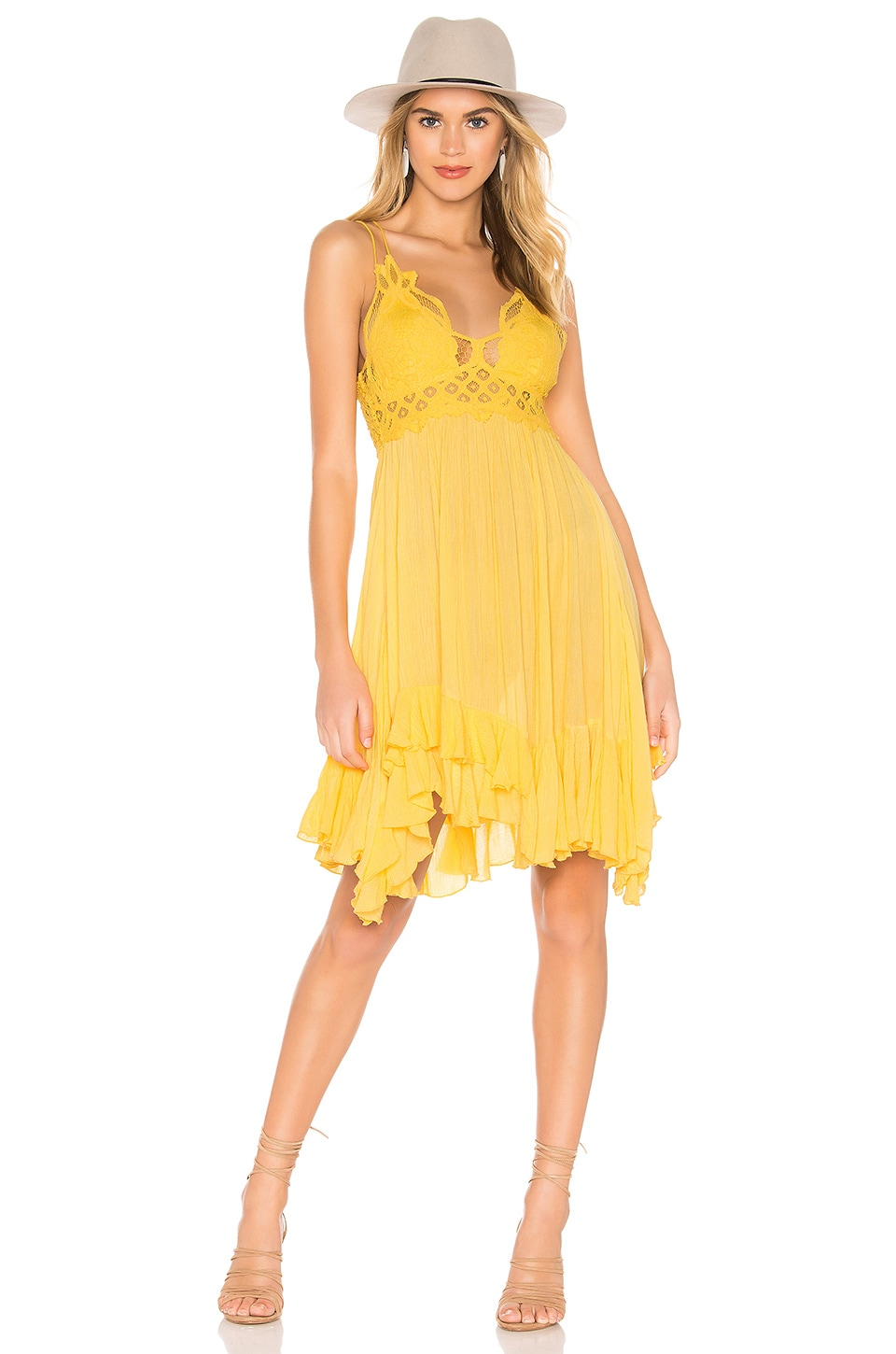 Free People Dresses FREE PEOPLE ADELLA SLIP DRESS IN YELLOW.