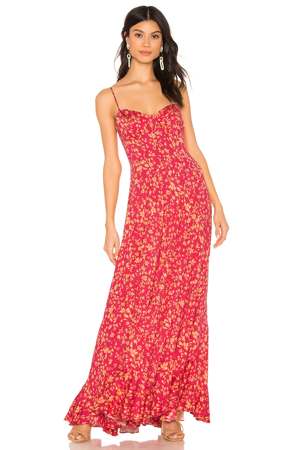 Free People Under The Moonlight Maxi Dress in Pink