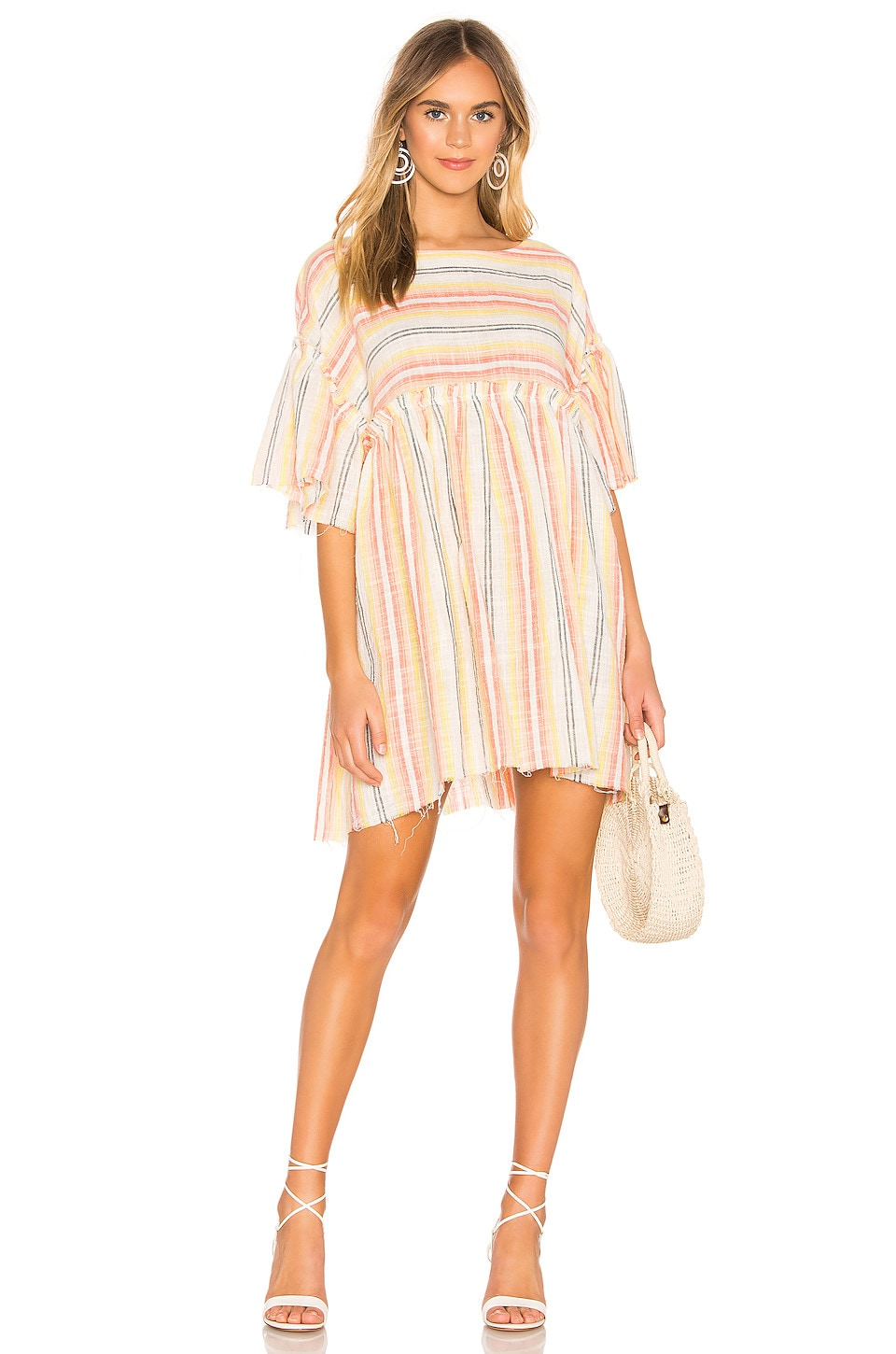 Free People Summer Nights Striped Dress in Yellow