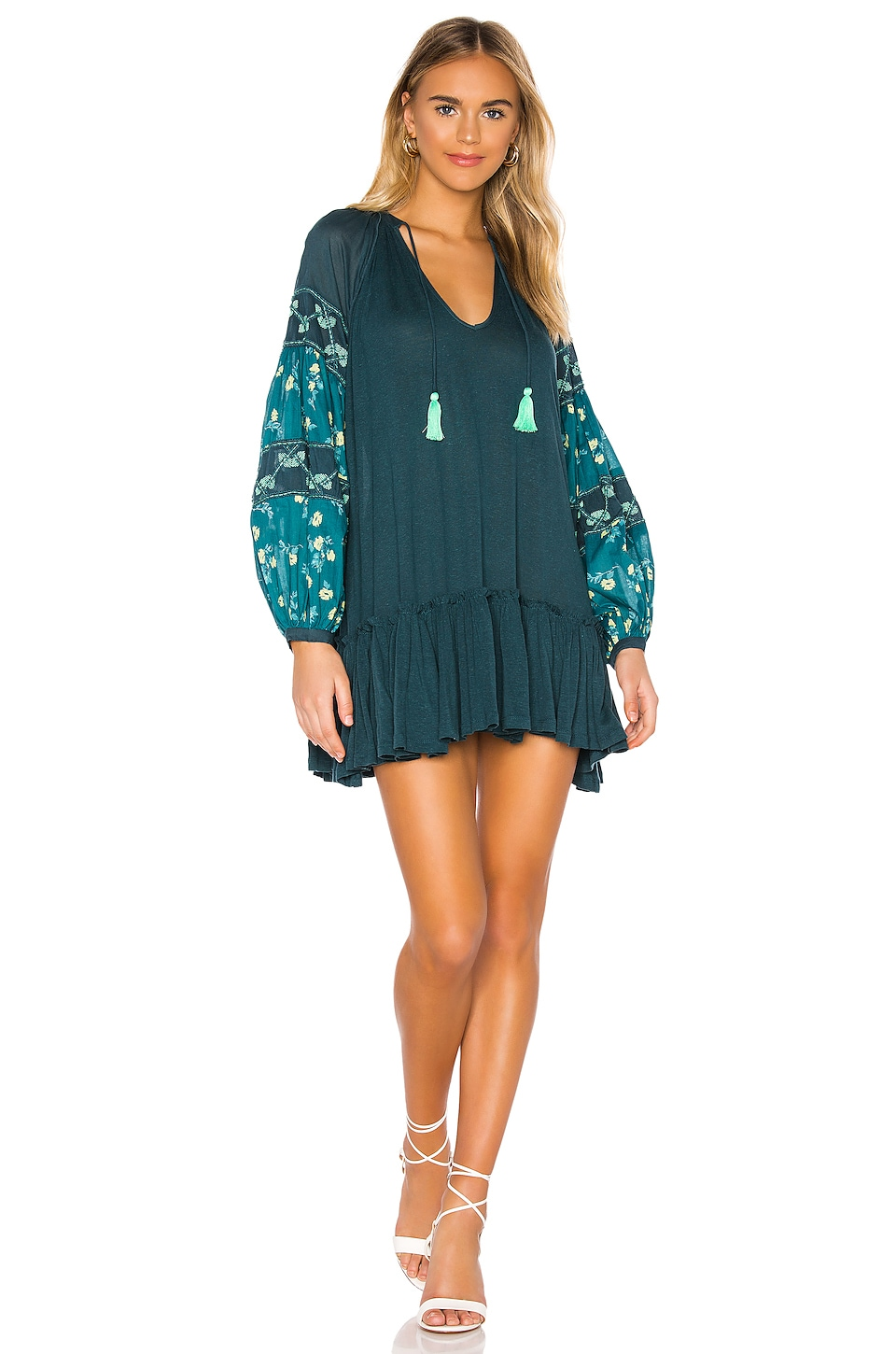 Free People Mix It Up Dress in Green