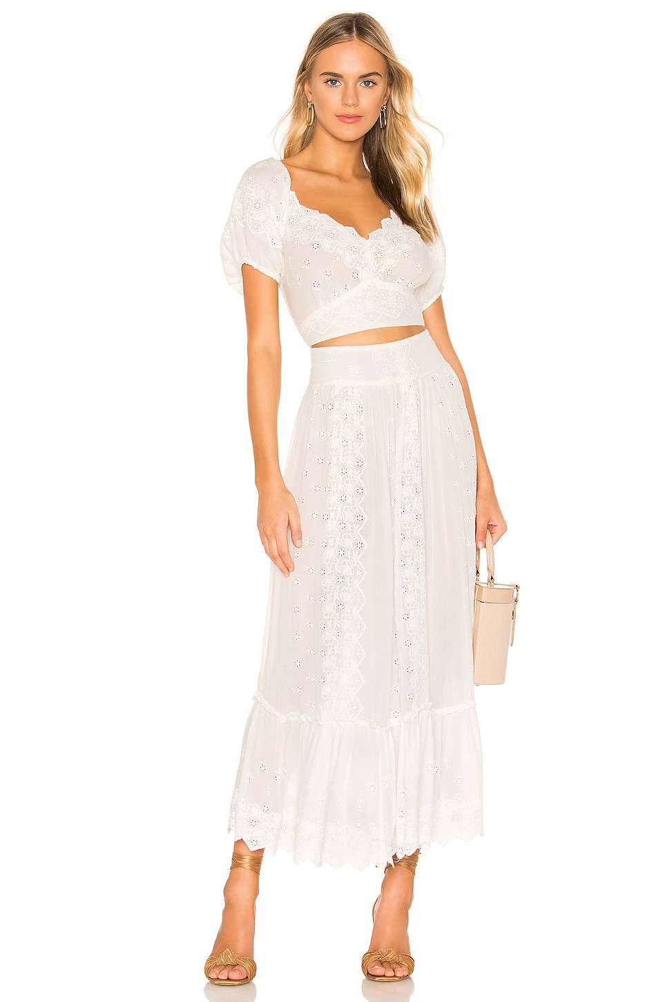 Free People Ella Set in Ivory