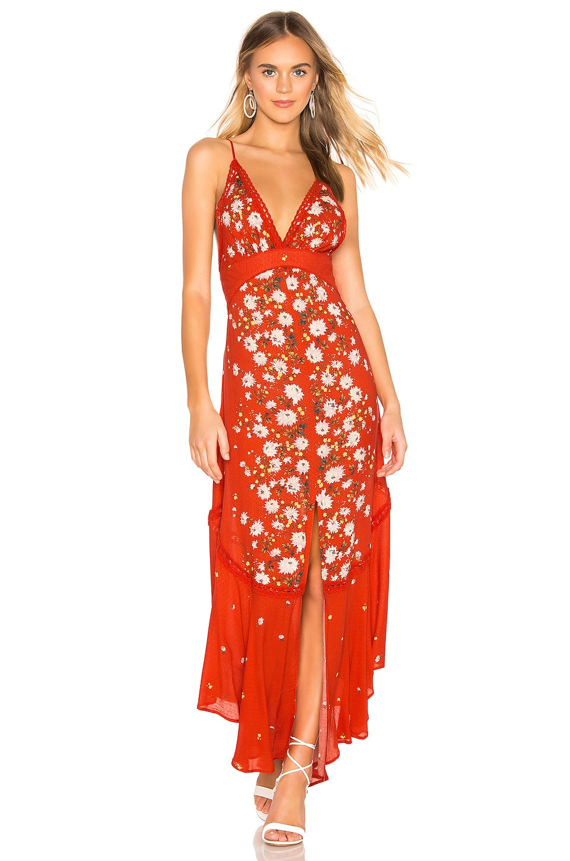 Free People Dresses Paradise Printed Maxi Dress