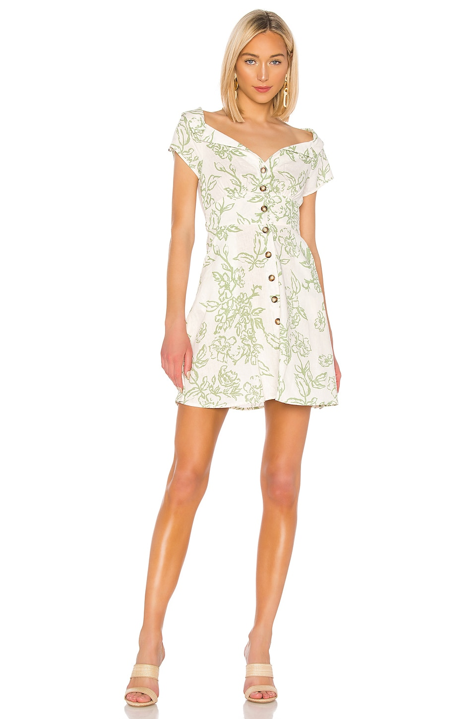 Free People Dresses FREE PEOPLE A THING CALLED LOVE MINI DRESS IN WHITE.