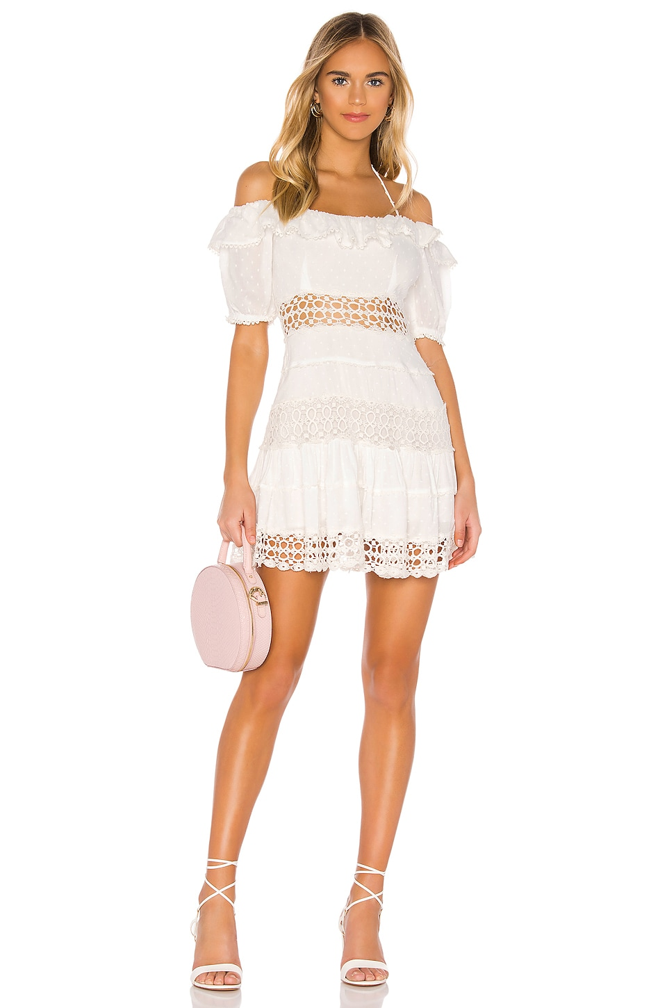 Free People Cruel Intentions Mini Dress in Ivory