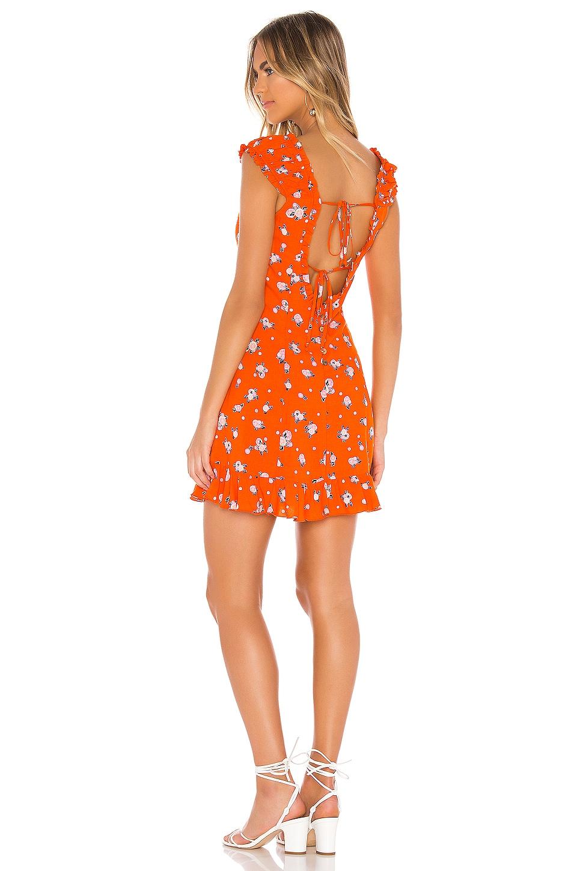 Free People Like A Lady Mini Dress in Orange
