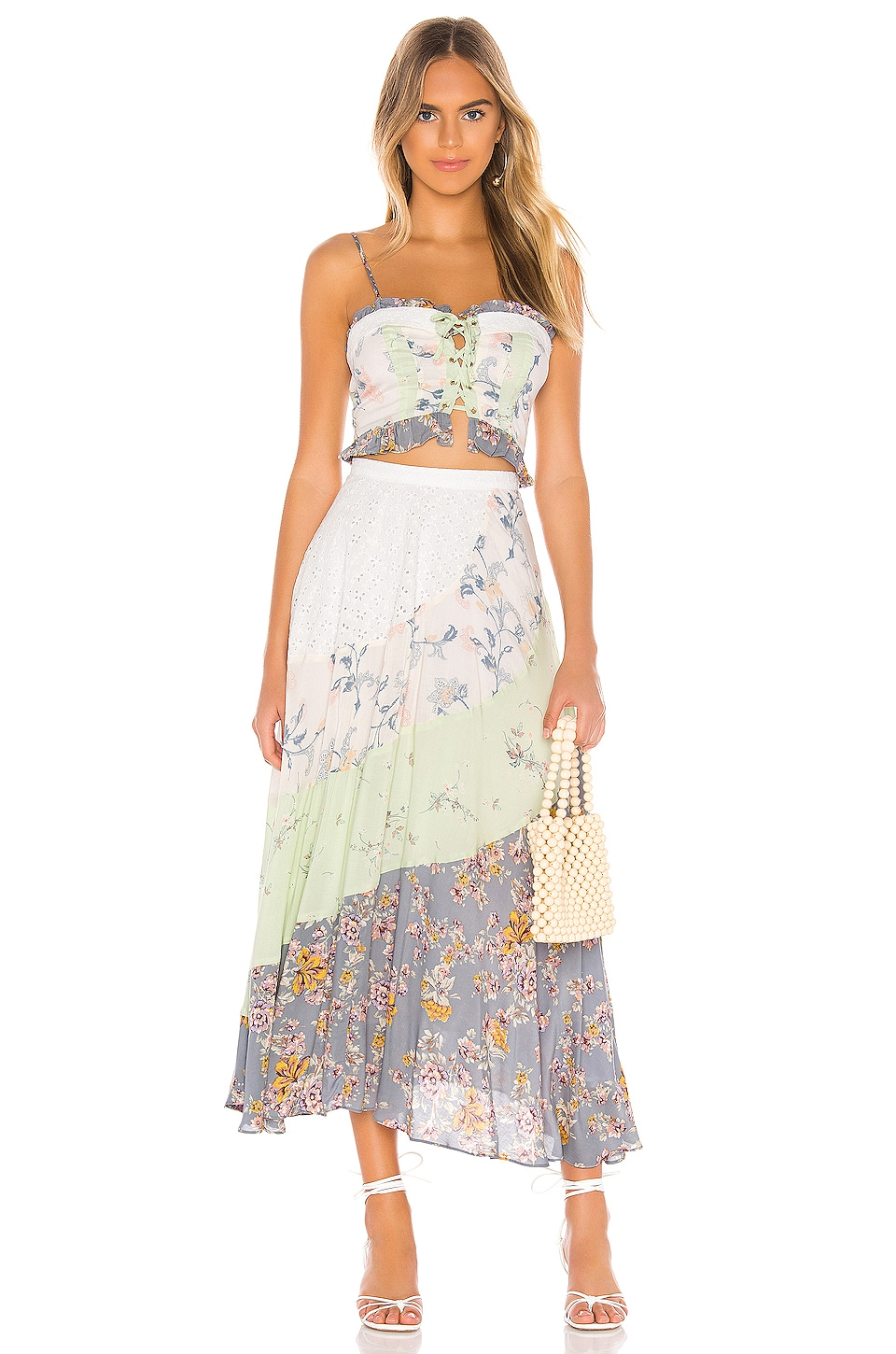 Free People In The Flowers Set in Light Blue