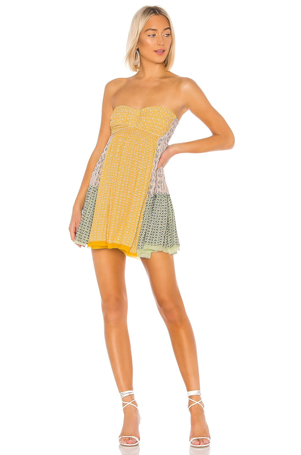 Free People Across The Sea Tunic in Yellow