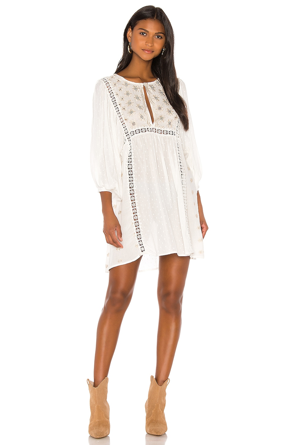 Free People Charlotte Tunic in Ivory
