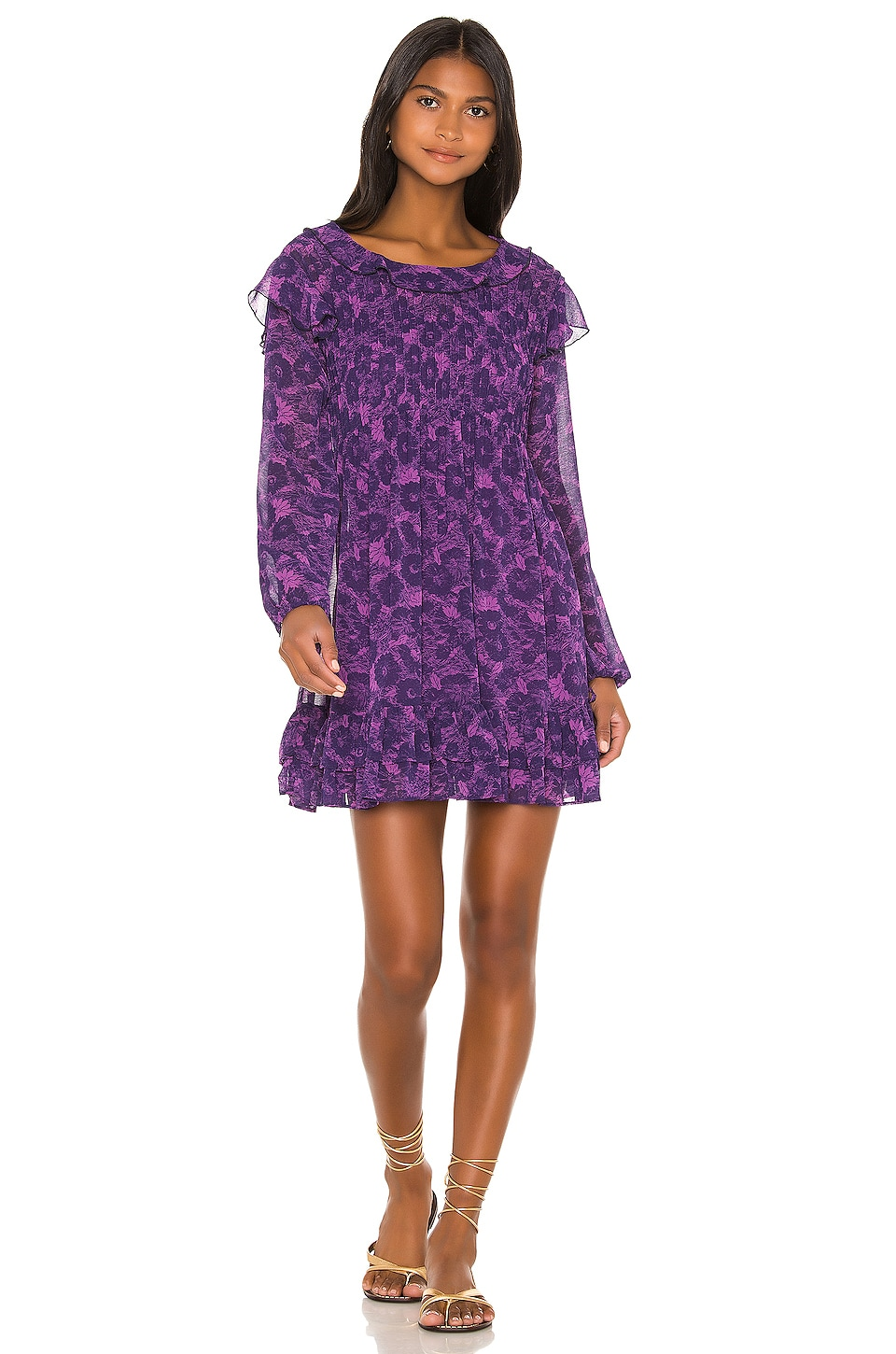 Free People These Dreams Mini Dress in Violet