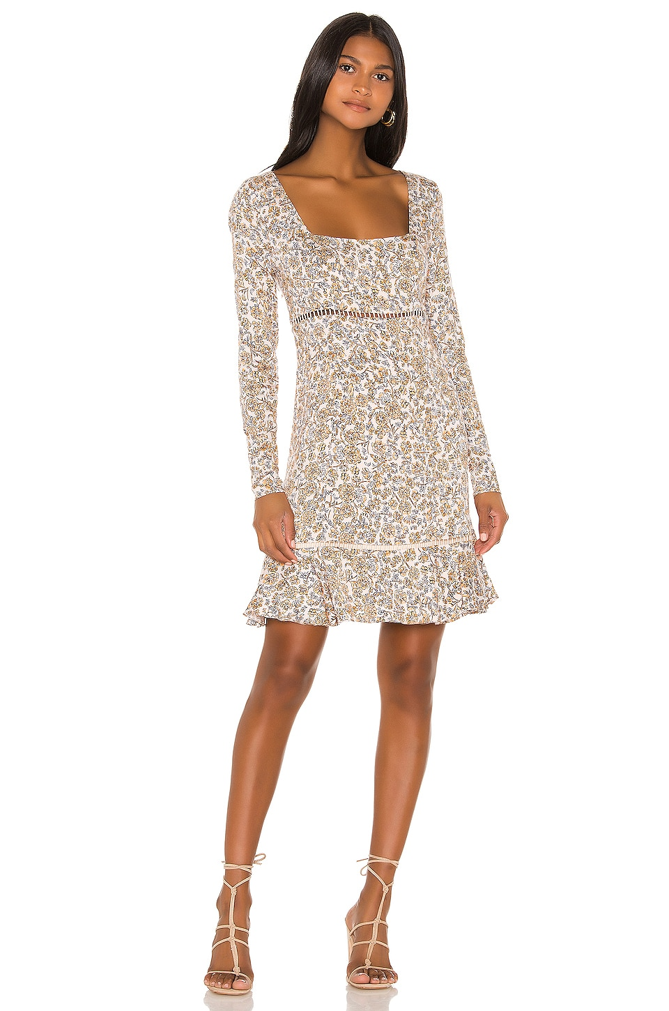 Free People Boheme Mini Dress in Ivory