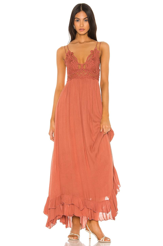 Free People Adella Maxi Dress in Copper
