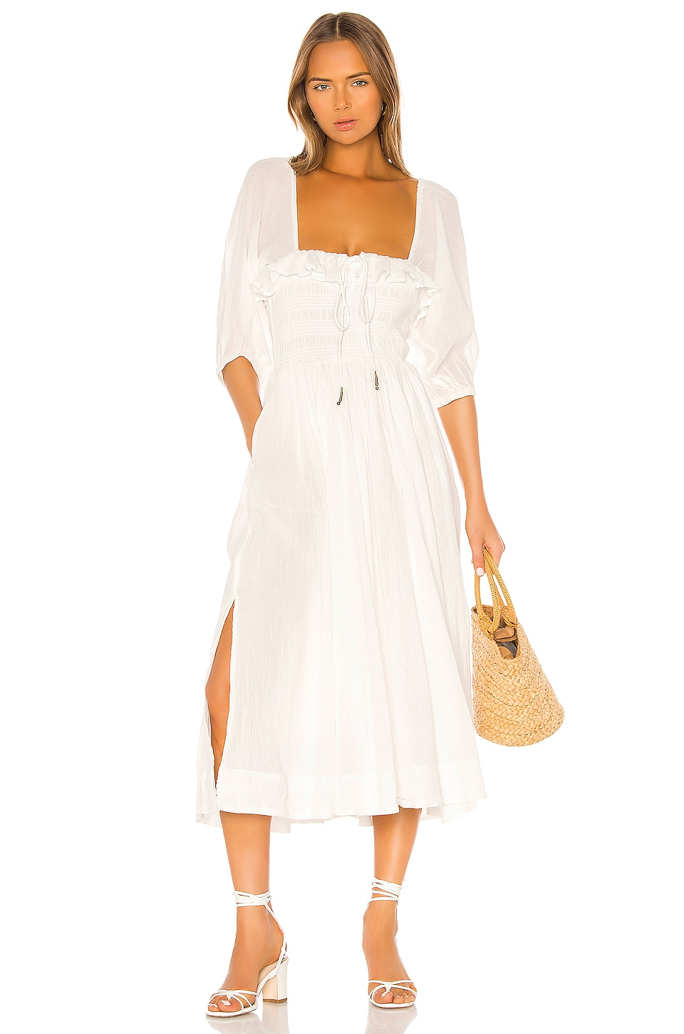 Free People Oasis Midi Dress in Ivory