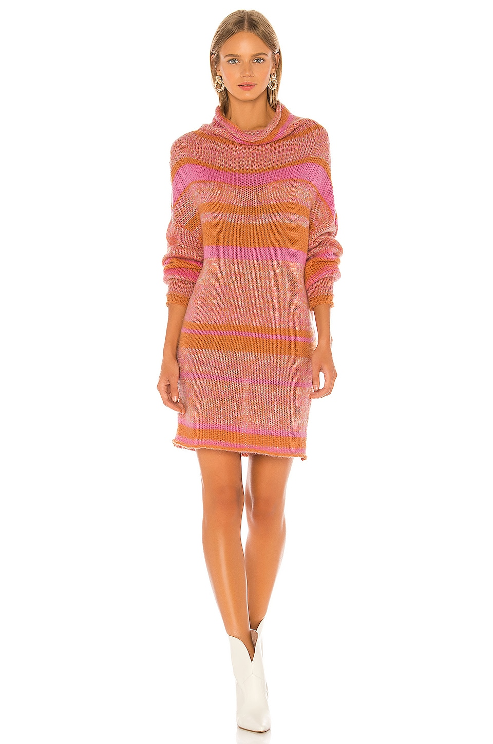 Free People Candy Stripe Tunic in Pink