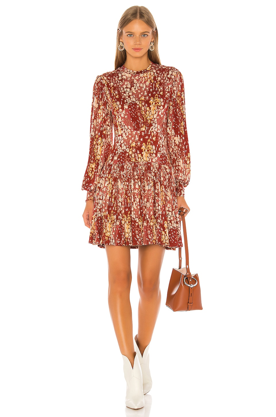 Free People Heartbeats Mini Dress in Red