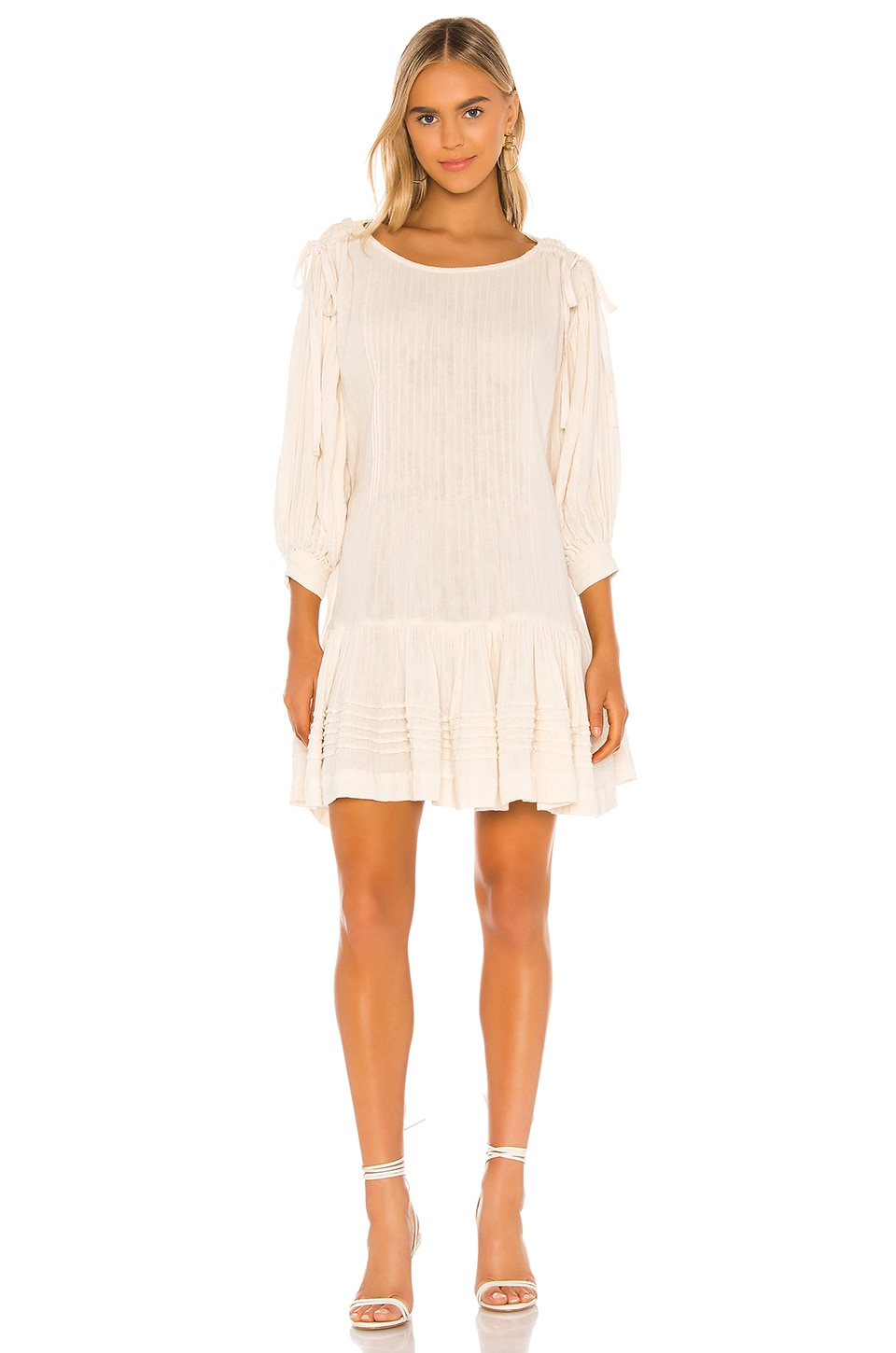 Free People Washed Ashore Mini Dress in Ivory