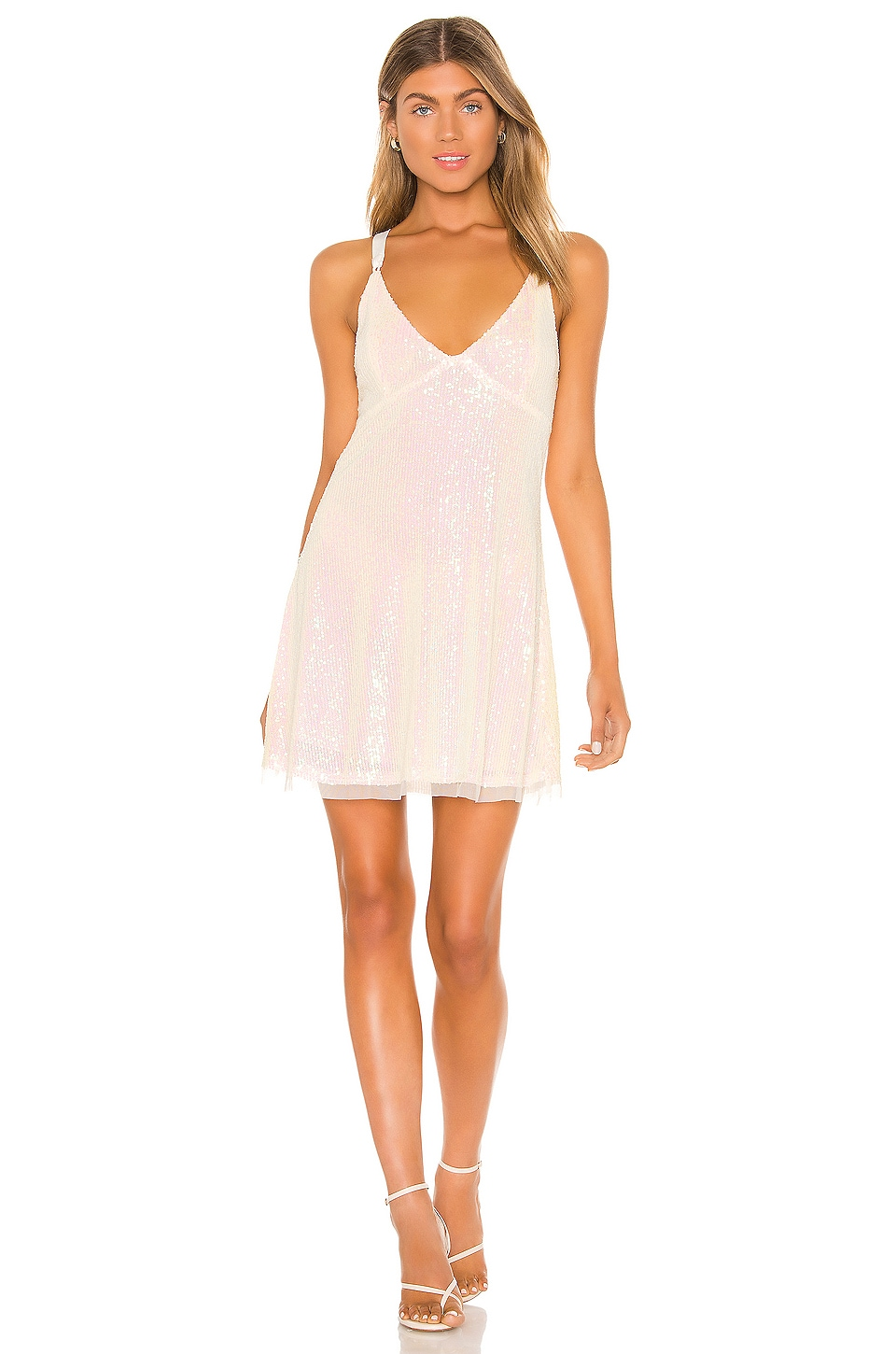 Free People Gold Rush Mini Dress in Ivory