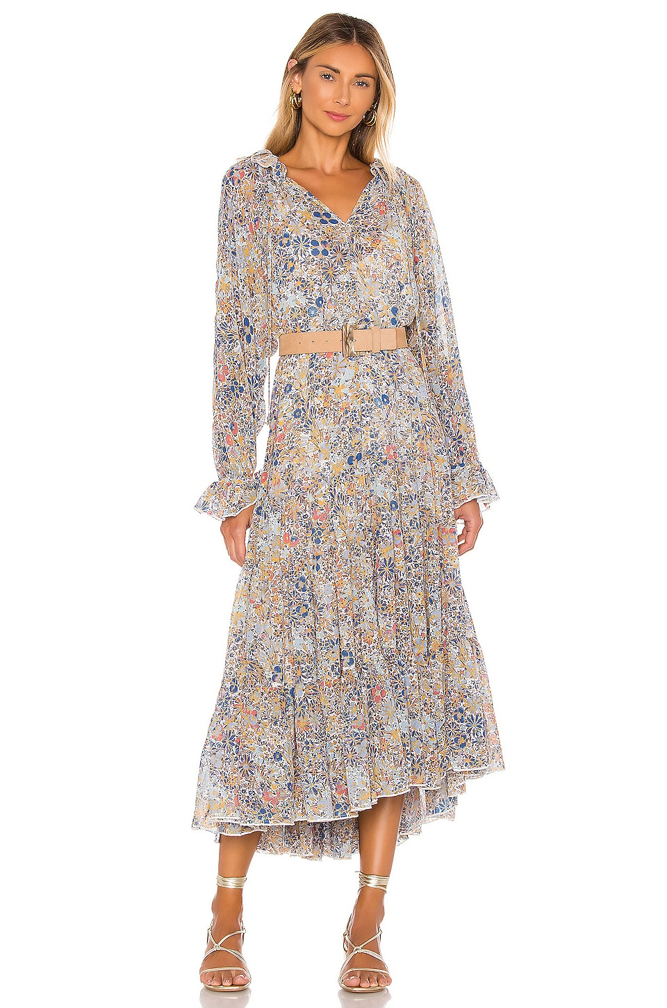 Free People Feeling Groovy Maxi Dress in Ivory Combo