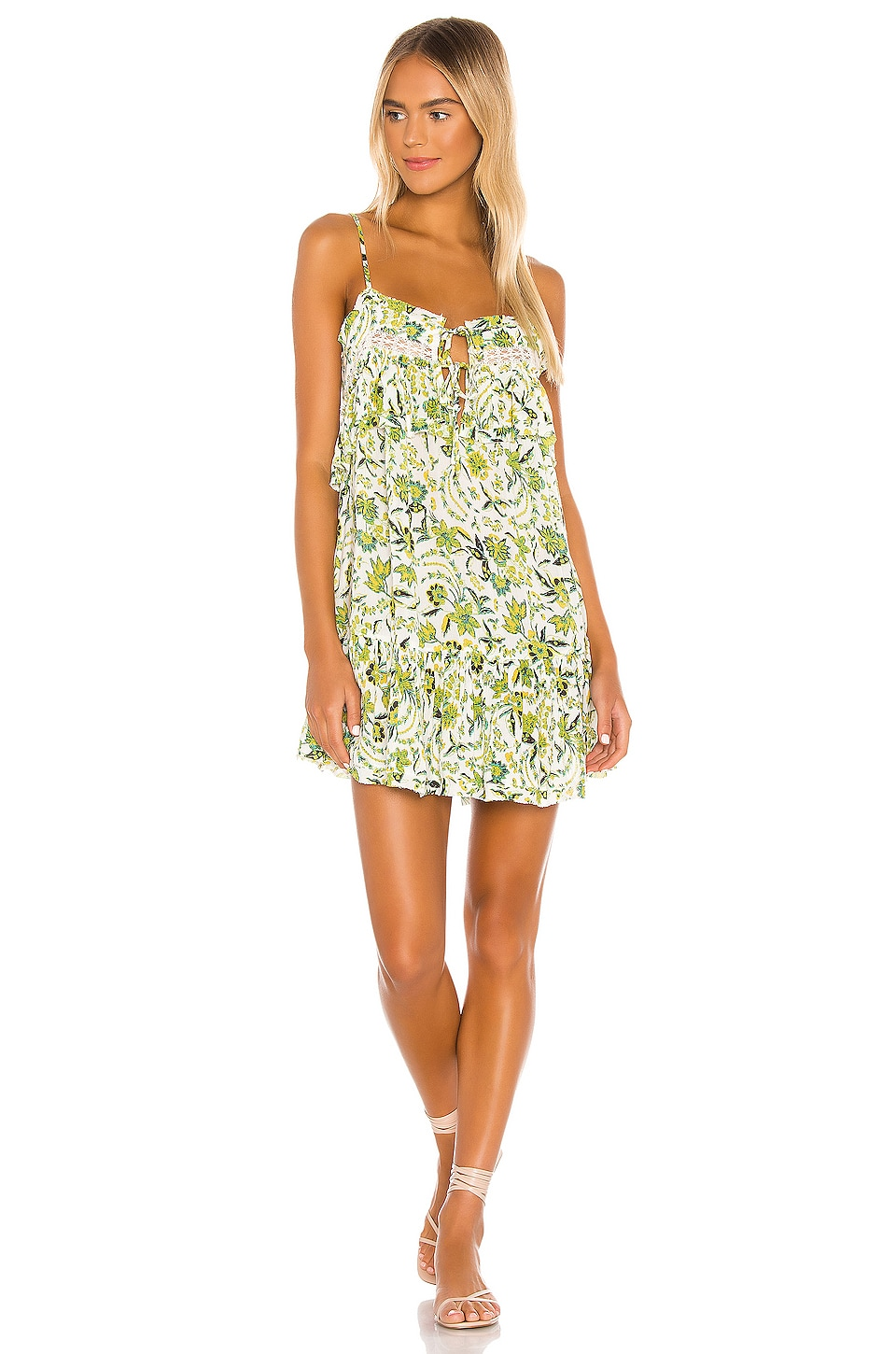 Free People Take Me With You Ruffle Dress in Ivory