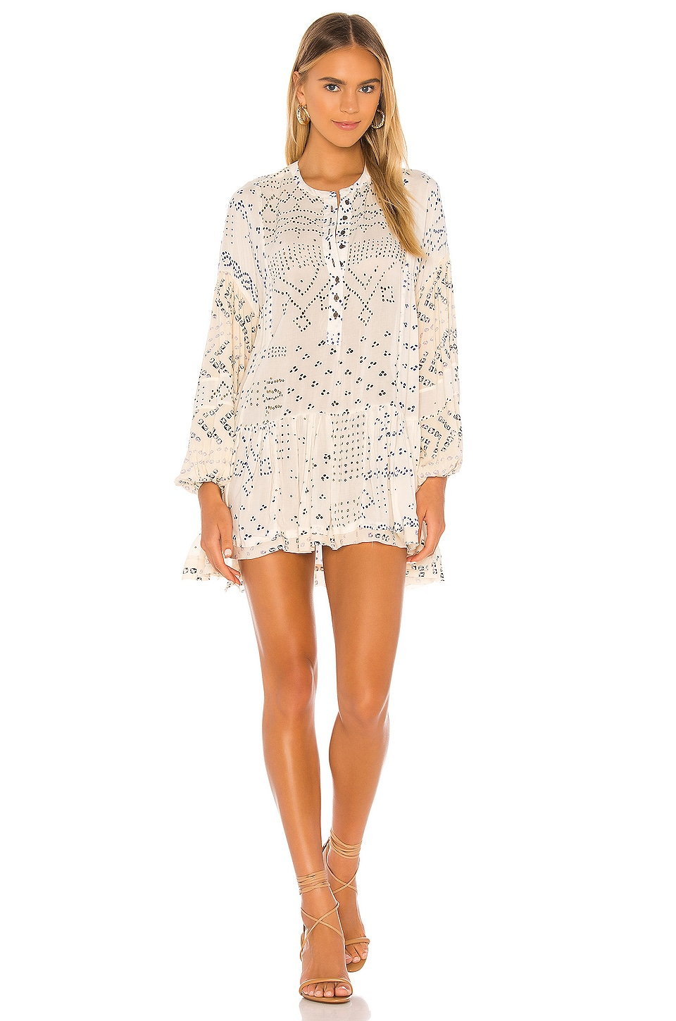 Free People Shibori Tunic in Ivory