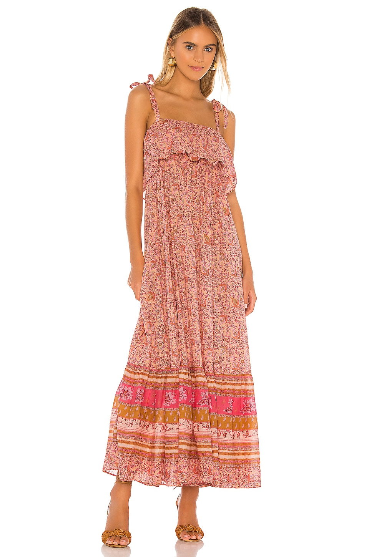 Free People Tangier Babydoll Midi Dress in Rose