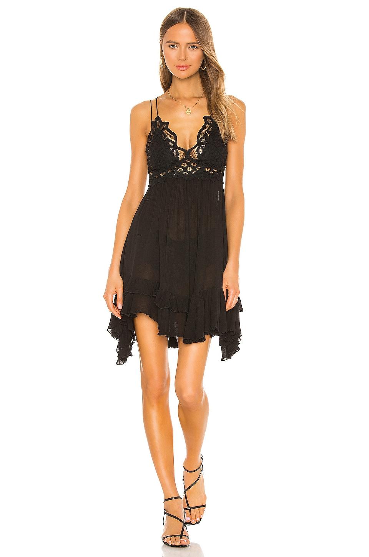 Free People Adella Slip Dress in Black