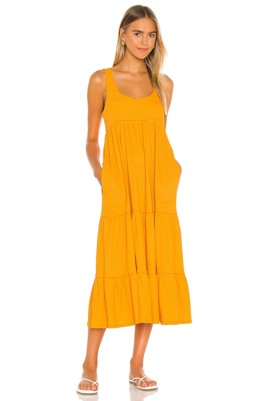 Free People Reel Love Midi Dress In Orangeade Revolve Kirundo 2020 women's midi leopard dress stylish long sleeves high waist dress button front drawstring wait. free people