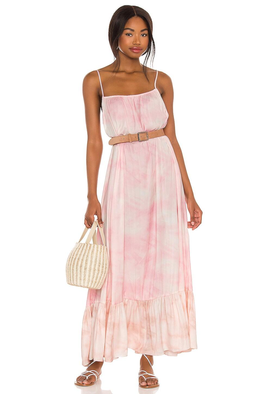 Free People Full On Maxi Slip Dress in Flower Combo