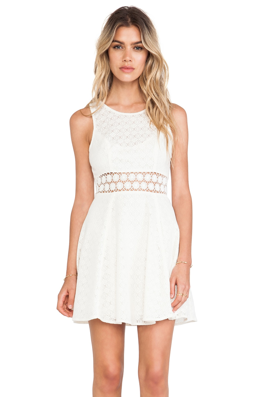 Free People Daisy Waist Dress in Ivory
