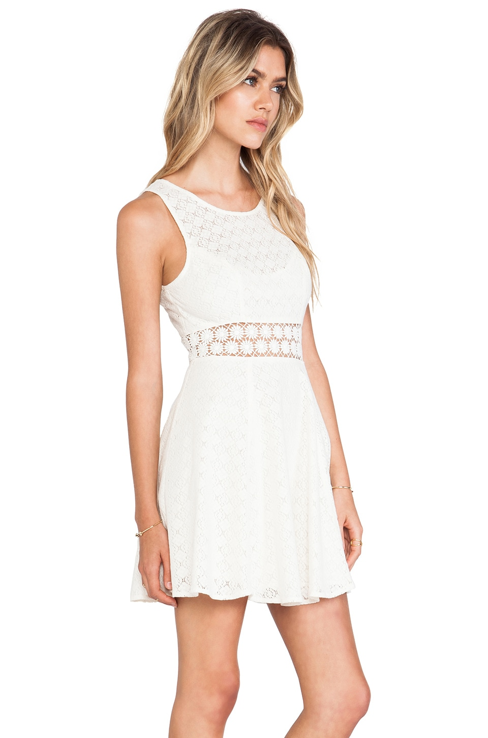 Free People Daisy Waist Dress in Ivory