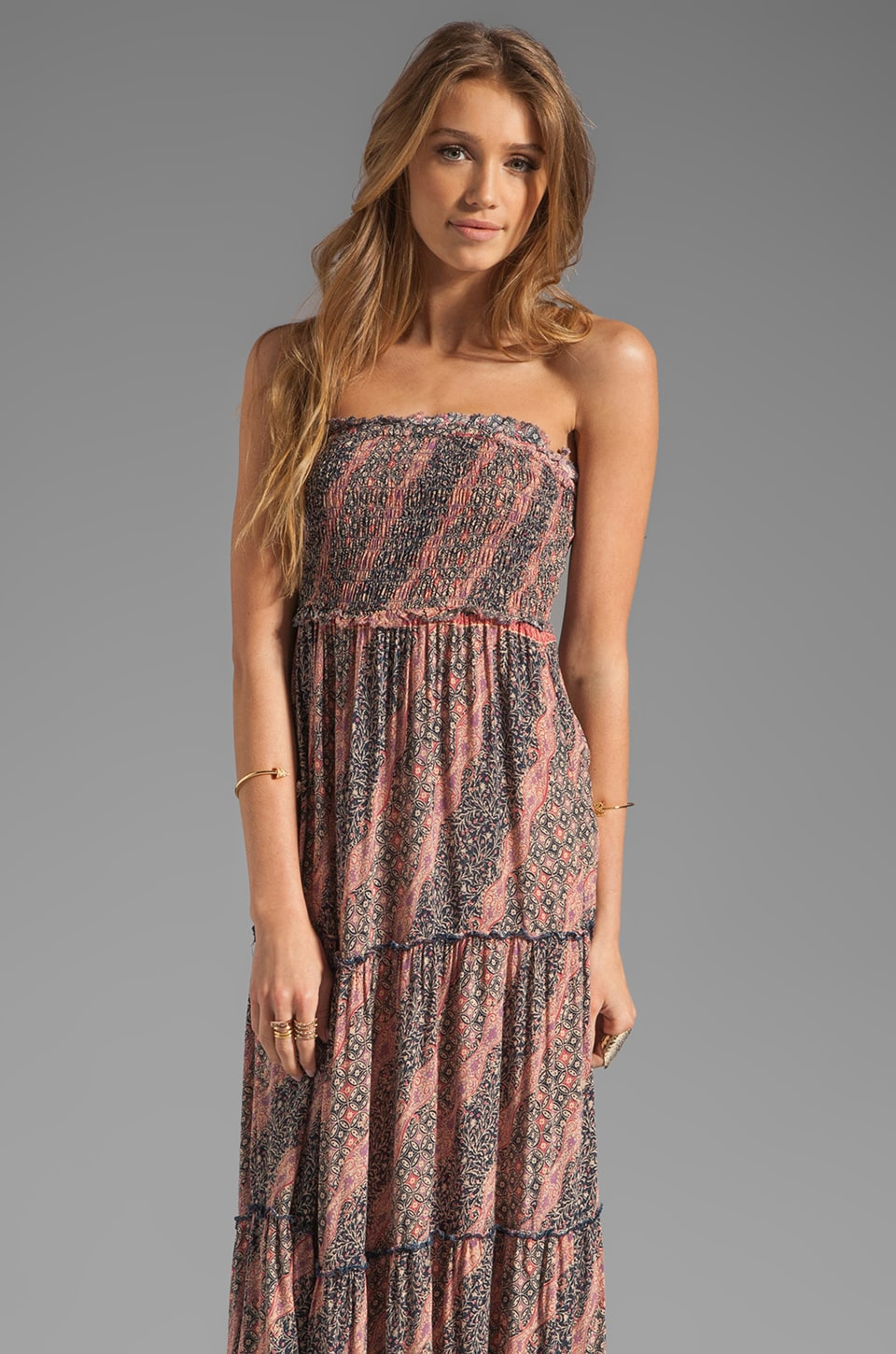 Free People Easy Come Easy Go Maxi Dress in Purple Combo