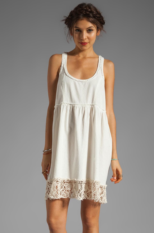 Free People Linen Babydoll Dress in Ivory