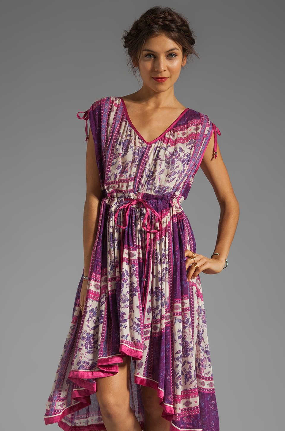 Free People Rose Garden Dress in Violet Combo