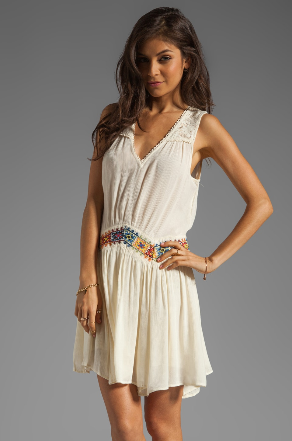 Free People Light Heart Dress in Ivory
