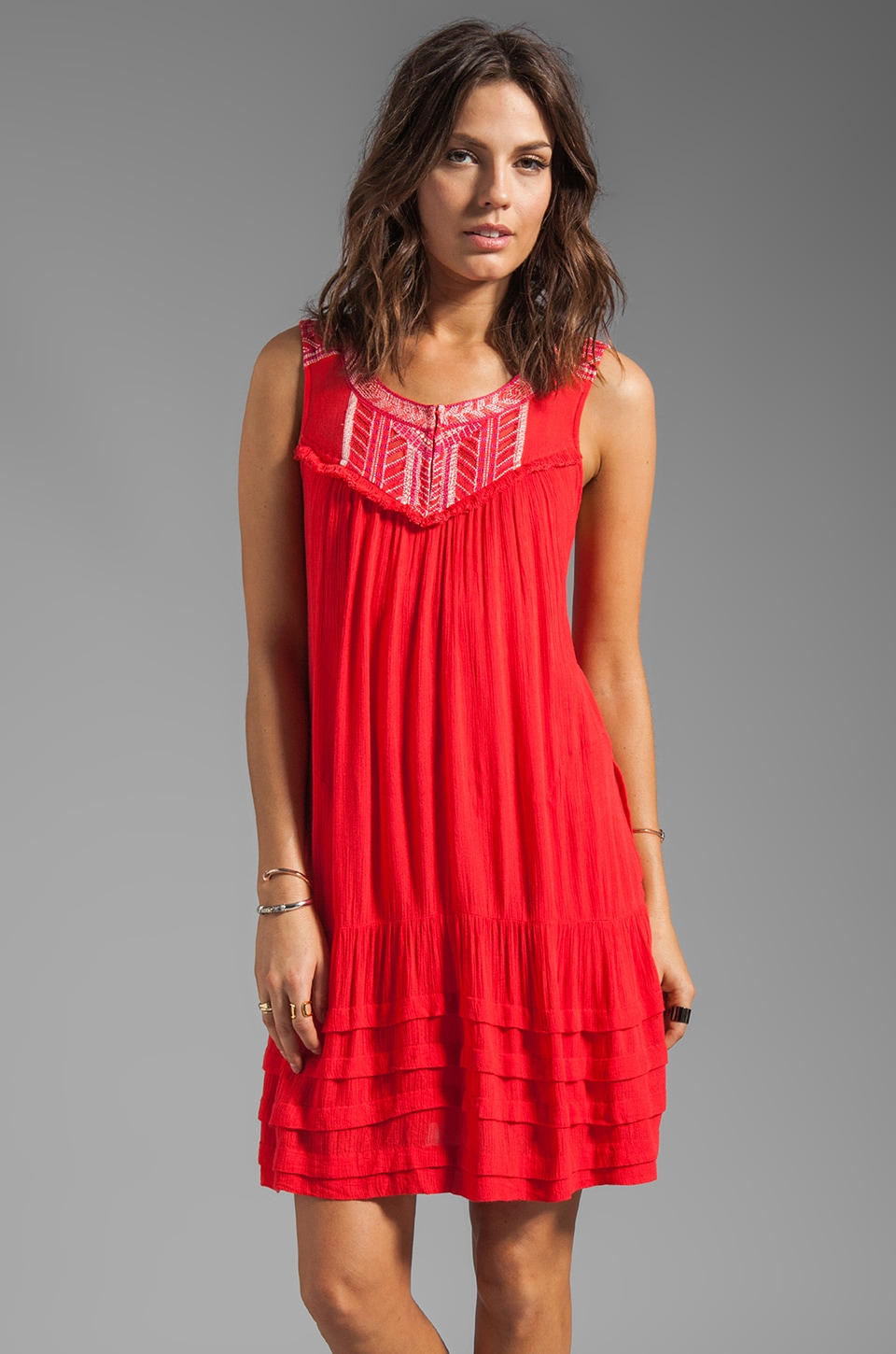 Free People City Limits Dress in Poppy