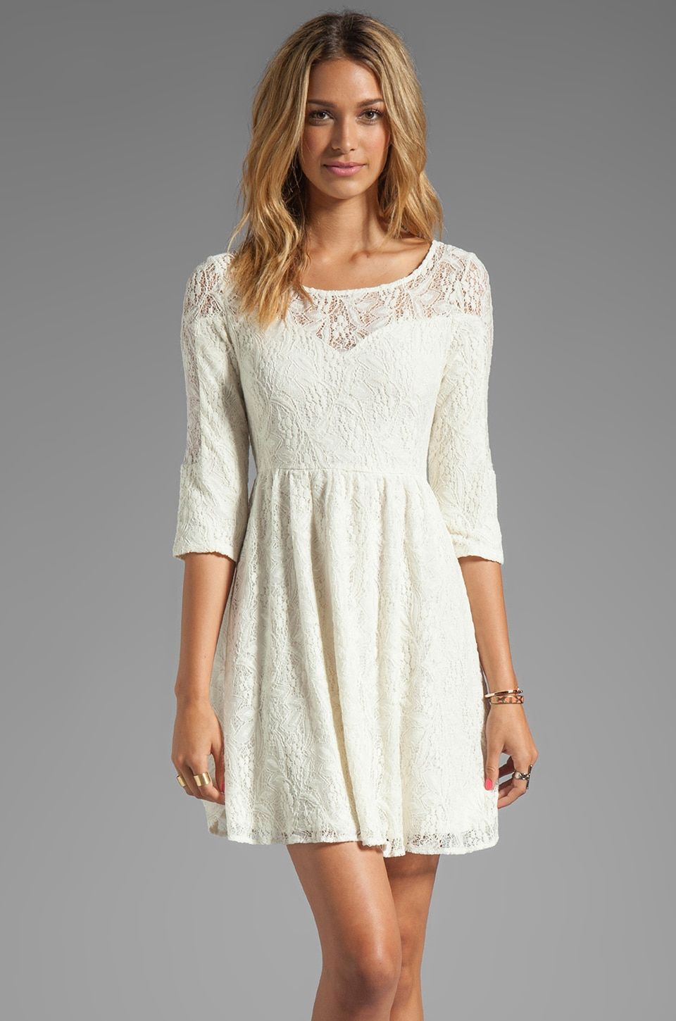 Free People Shake It Up Dress in Cream