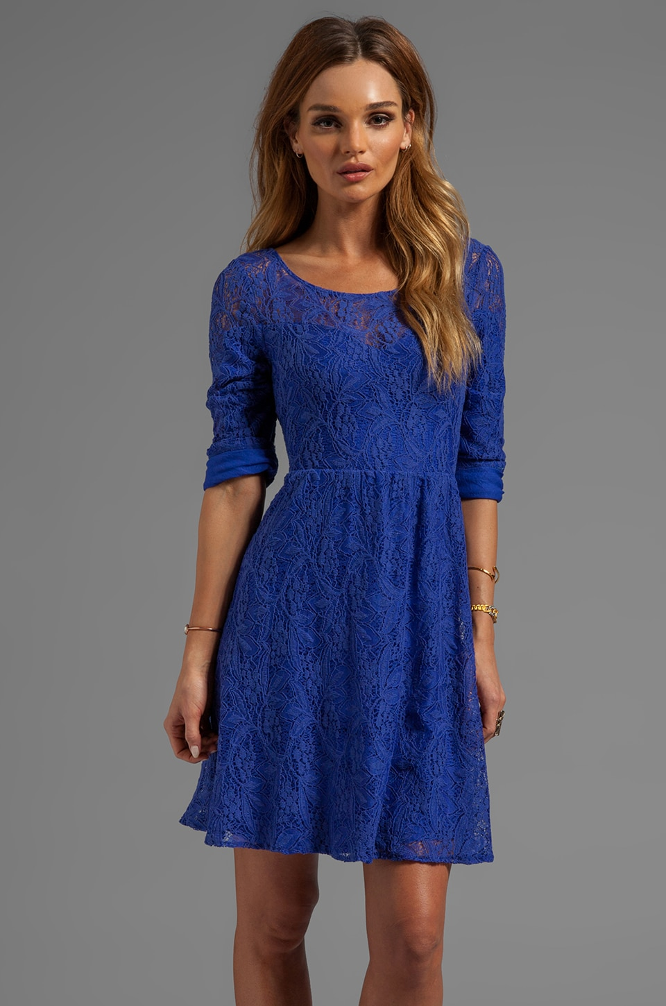 Free People Shake It Up Dress in Mosaic Blue