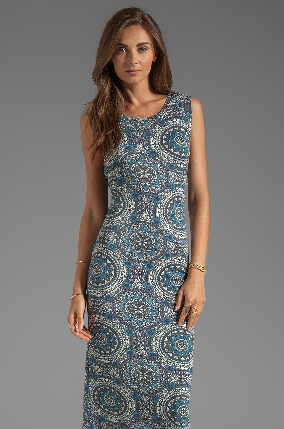 Free People Love From London Dress in Slate Combo