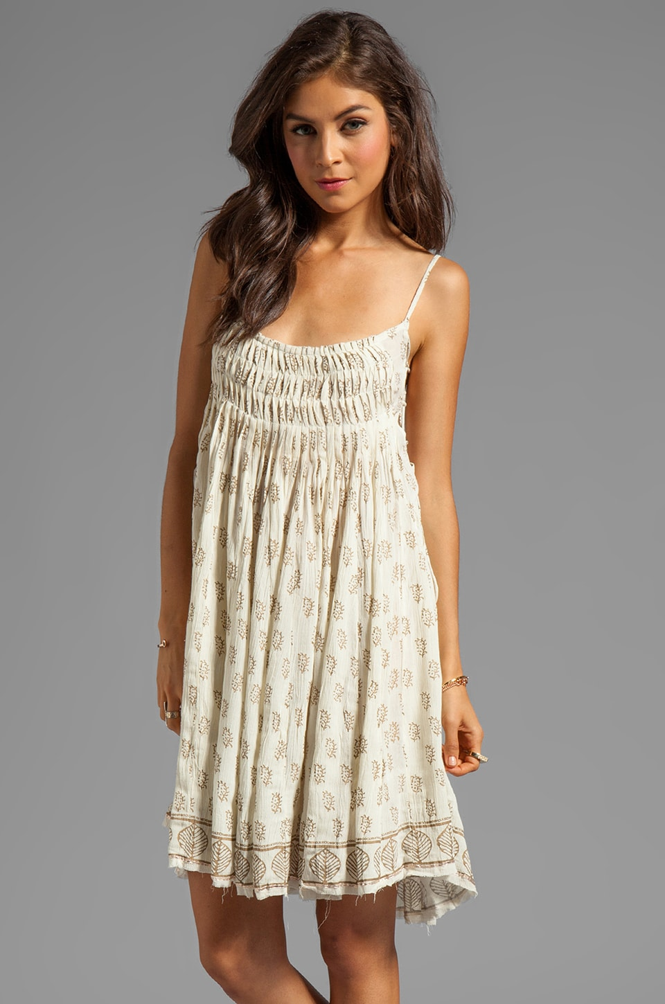 Free People Palm Imperial Dress in Ivory